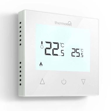 Thermosphere Thermotouch 9.2mG Glass Manual Thermostat - White Glass
